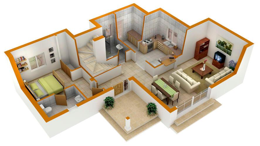 Планировка 3-х комнатной квартиры (50 фото): расположение
